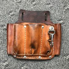 Bashlin Leather Iii Qlds Tool Pouch Lineman Electrician Belt Bag