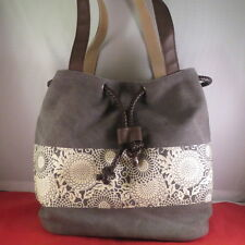 54480f27e item 1 NWOT LADIES GRAY WITH CREAM PINWHEEL PRINT BUCKET DRAWSTRING CANVAS  HOBO BAG -NWOT LADIES GRAY WITH CREAM PINWHEEL PRINT BUCKET DRAWSTRING  CANVAS ...
