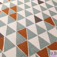 Scandinavian Fabric Remnants Blue Orange Vtg Retro 50s 60s Marimekko Heals Era