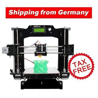 Free Tax to Europe! Geeetech Reprap Prusa I3 Pro X 3D imprimante DIY MK8