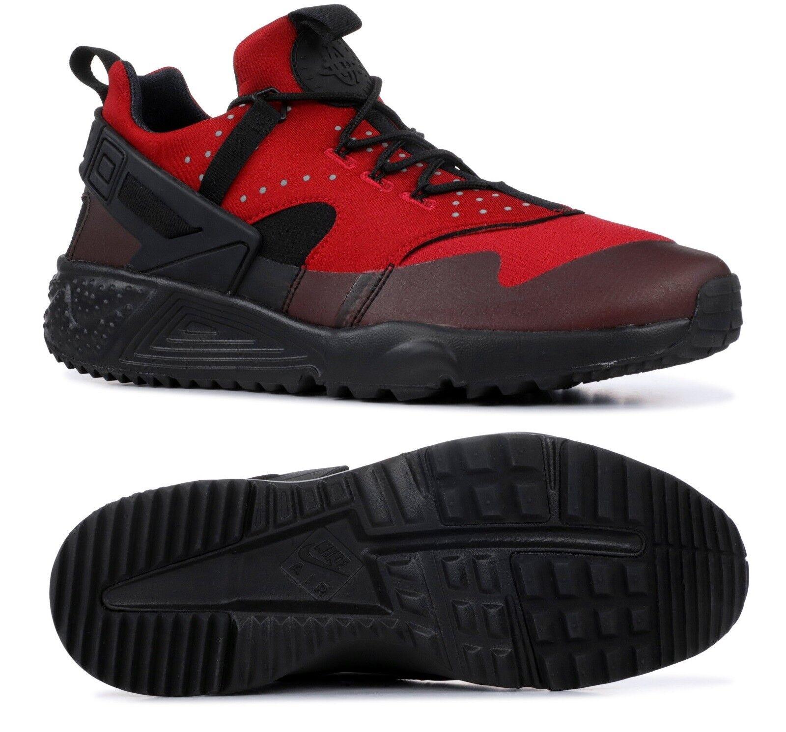 NEW MEN'S NIKE AIR HUARACHE UTILITY 806807-600 GYM RED BLACK SZ 12