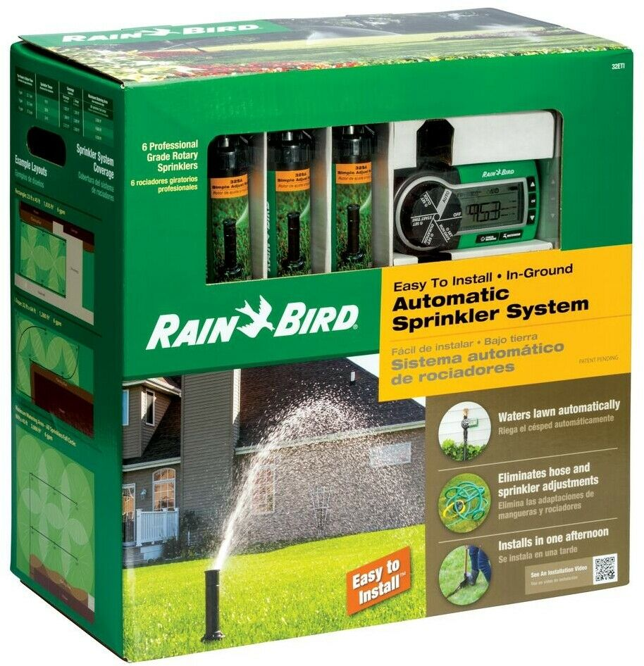 Automatic Sprinkler System 40 - 75 psi In-Ground Install with Retraction Spring
