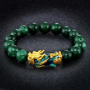 Feng-Shui-Pixiu-Jade-Wealth-Protection-Bracelet-Good-Lucky-Bracelets-Jewelry