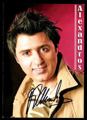 GroßZüGig Alexandros Autogrammkarte Original Signiert ## Bc 47368 Extrem Effizient In Der WäRmeerhaltung Autogramme & Autographen Musik