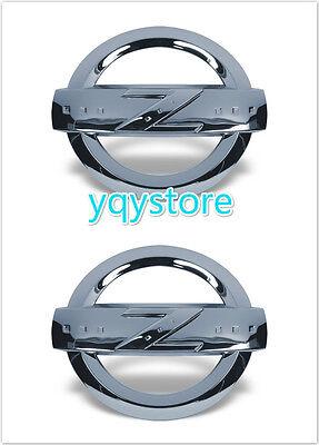 2X New Chrome JDM NISSAN 350Z Fairlady Z33 4Grille Trunk FrontRear Emblem Badges