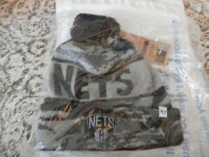 Brooklyn-Nets-Beanie-Cap-Hat-039-47-Brand-Camo-Tigertooth-Beanie
