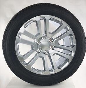 Chevy-Silverado-Suburban-Tahoe-Rims-22-034-Chrome-Split-Spoke-Wheels-Goodyear-Tires