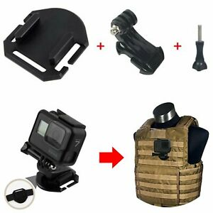 Tactical-Gilet-Mount-Molle-Clip-Bracket-Base-Holder-For-GoPro-Hero-7-6-5-3-4-HAU