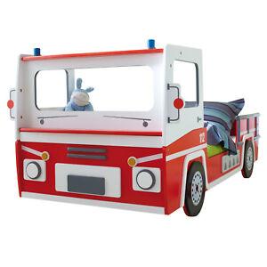 Autobett Kinderbett Feuerwehrauto SOS Feuerwehrbett Spielbett Kinderzimmer