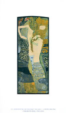 Gustav Klimt Wasserschlangen I Poster Kunstdruck Bild 41x25cm - Portofrei