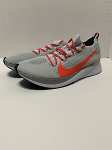 ca692cea4 Image is loading Nike-Zoom-Fly-Flyknit-Pure-Platinum-Bright-Crimson-