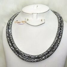 9c24dd817bd8 item 3 Long Grey Made with Swarovski Element Stardust Crystal Necklace  Magnetic Clasp -Long Grey Made with Swarovski Element Stardust Crystal  Necklace ...