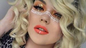 Faux Lip Ring Instagram Look Rose Gold Nose Ring Hoop Fake Lip