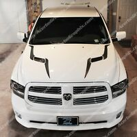 Dodge Ram 2009-16 1500 Srt Performance Sport Hood Stripe Inlay Decal Matte Black