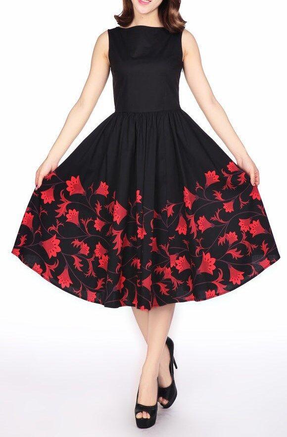 ANT 13847 Hochwertiges 50er Kleid Rockabilly Tanzkleid Rock´n Roll Rock