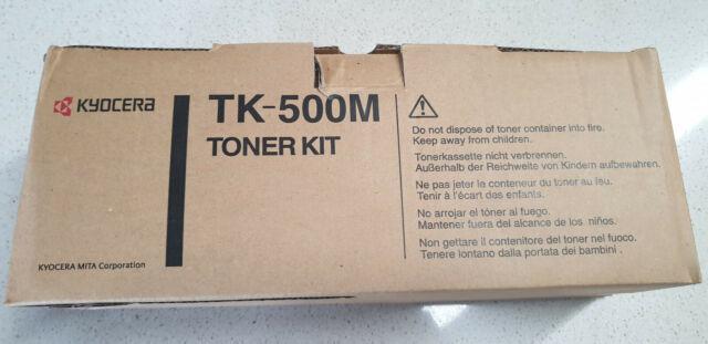 Genuine Kyocera TK 500M Magenta Toner, Brand New See Photos