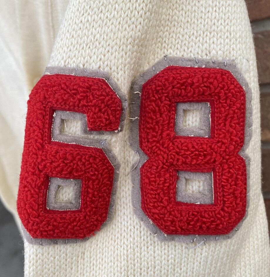 Vintage School Varsity Football Sweater Sears Let… - image 5