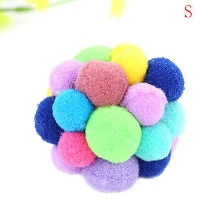 Pet Cat Toy Colorful Handmade Bells Bouncy Ball Built In Catnip Interactive Toy