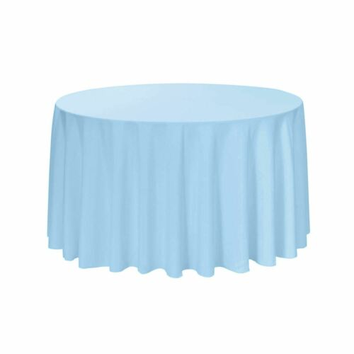 YCC Linens 108 Inch Round Polyester Tablecloths for weddings and parties