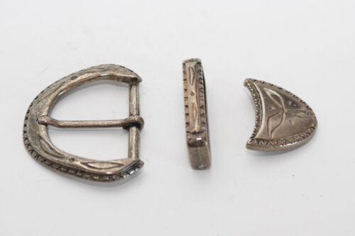 nickel-schwarz Gürtelschnalle mit Schlaufe 40 mm ca Mittelalter Spitze