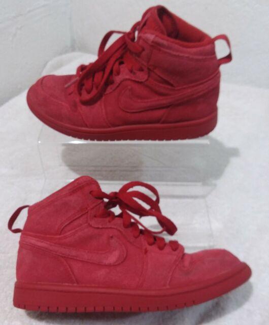competitive price 7df45 10495 Jordan 1 Retro High Little Kids 705303-603 Gym Red Suede Shoes Youth Size 2