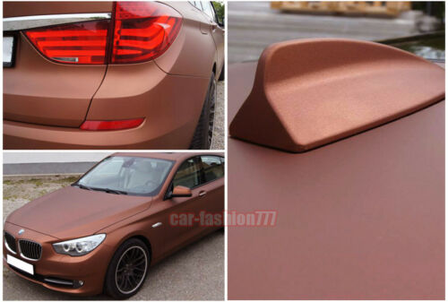 Multiple Car Satin Matte Metallic Chrome Vinyl Wrap Sticker Stretchable Brown CF