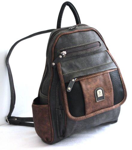 Ladies Shoulder PU Leather Multi Pocket Messenger Cross body casual Bag Handbag