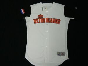 the latest 68e92 ffb7c Details about Authentic Team Netherlands 2017 WBC World Baseball Classic  Jersey Reg$309 Wht 48