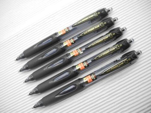5pcs UNI SN-200PT POWER TANK 1.0mm ball point pen BLACK Japan