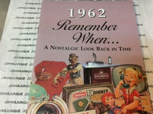 "1962 Tu te rappelles quand kardlet NEUF avec enveloppe /""NOSTALGIC LOOK BACK IN TIME/"""