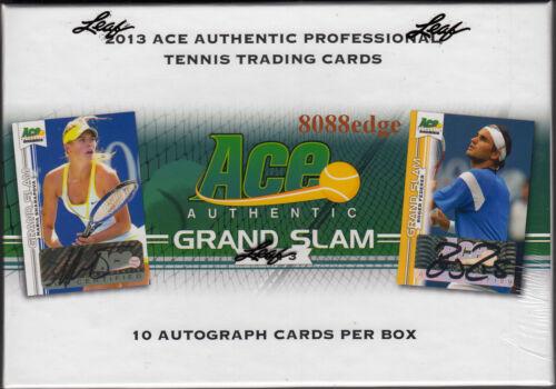 2013 ACE GRAND SLAM TENNIS FACTORY SEALED BOX SHARAPOVA//NADAL 10 AUTO PER BOX