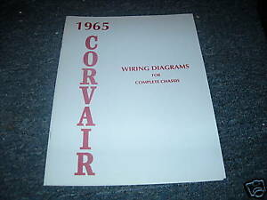 1965 CHEVROLET CORVAIR WIRING DIAGRAM MANUAL SCHEMATIC | eBay
