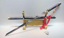 Folded Clay Tempered Straight Blade Sword Kiriha-Zukuri Padauk Wood Chokuto