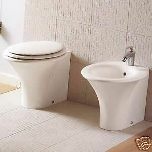 Sanitari bagno filo muro sculture vaso bidet e sedile termoindurente hatria ebay - Sanitari bagno filo muro ...