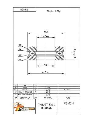 Miniatur Axialkugellager 7x13x4,5mm Typ F7-13M