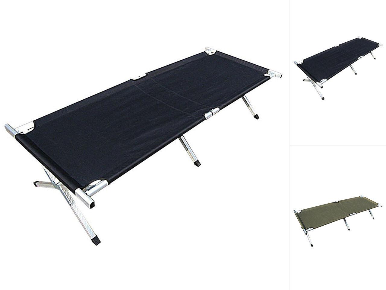 IC campo LETTO LETTINO campo lettino da campeggio letto lettino campeggio letto nero oliva 190x65cm
