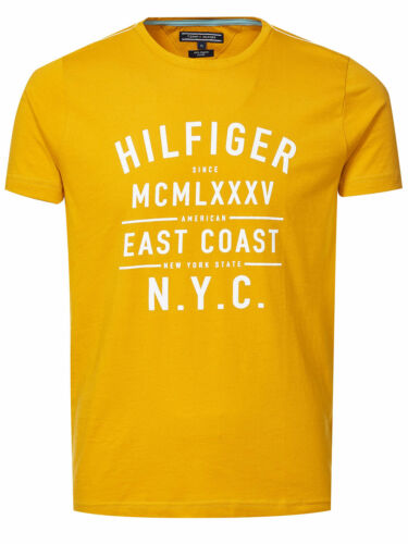 Cotton TOMMY HILFIGER T-Shirt MW0MW00820 senf 100/% Baumwolle