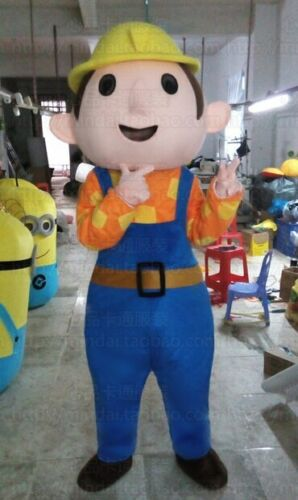 The Builder Mascot Costume Suit Cosplay Party Game Dress Outfit Halloween Adult