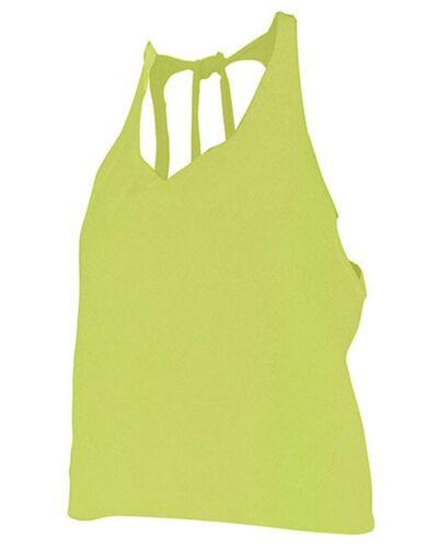Damen Top Shirt Rückenausschnitte Girlie Girly Neon Party Bauchfrei XS S M