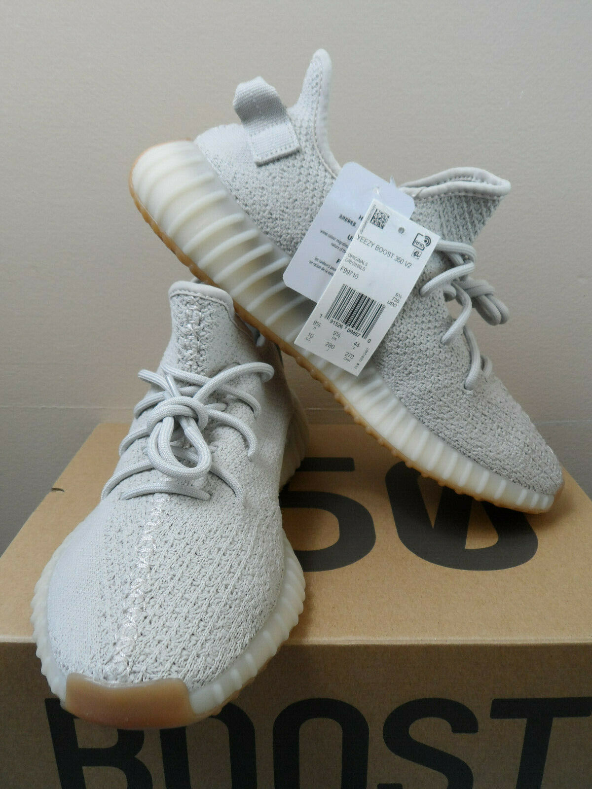 Adidas Yeezy Boost 350 V2  Sesame  F99710 - New - 100% Authentic - Size 10