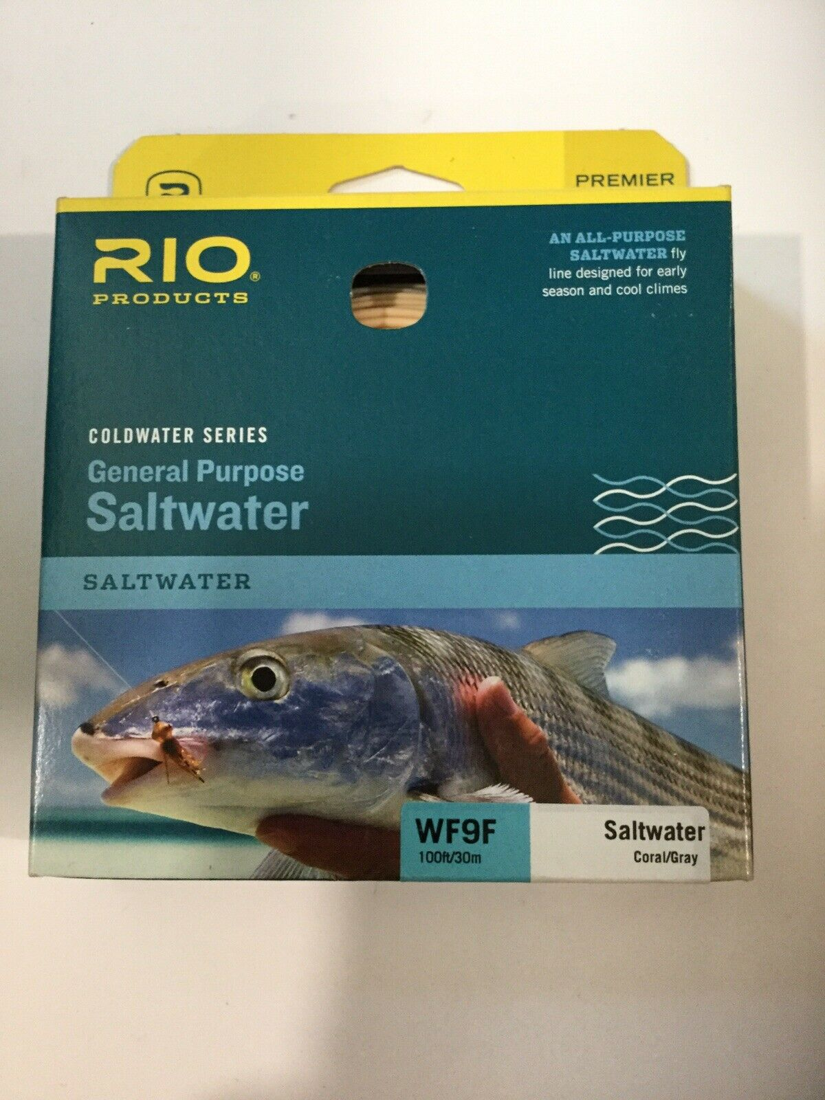 RIO GENERAL PURPOSE SALTWATER  WF9F FLY pesca LINE