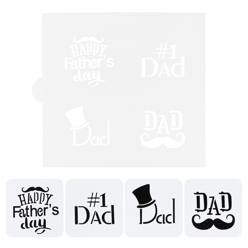 1pc Decorative Durable Cookie Stencil Father's Day for Biscuit