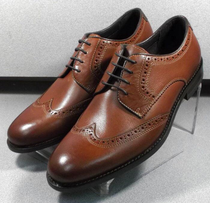 592026 ES50 Men's shoes Size 10 M Dark Tan Leather Lace Up Johnston & Murphy