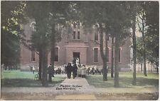 Ohio Postcard 1911 OAK HARBOR Public School Building Students Teachers