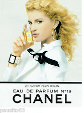 PUBLICITE ADVERTISING 115  1988  CHANEL  parfum n°19