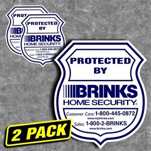 Security Home Brinks Alarm Sticker Sign Decal Stickers
