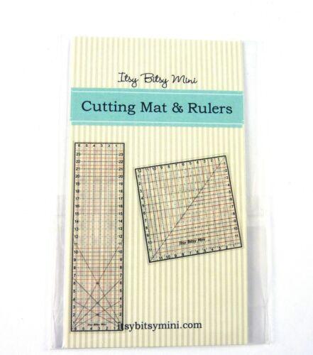 Dollhouse Miniature Quilt Craft Cutting Mat /& Rotary Cutter Kit