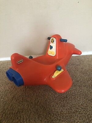 Groovy Vintage Little Tikes Red Plane Airplane Rocking Chair Toy Ride On Rocker Rare Ebay Beatyapartments Chair Design Images Beatyapartmentscom
