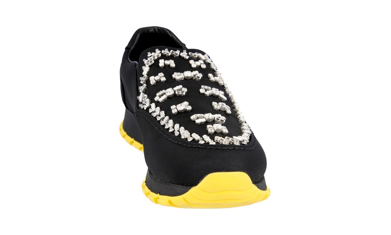 zapatos PRADA LUXUEUX 1S877F NOUVEAUX negro NOUVEAUX 1S877F 39 39,5 UK 6 cb0da8