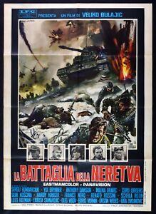 Werbeplakat-2F-Die-Schlacht-Der-Neretva-Sylva-Koscina-Franc-Schwarz-Brynner-M245